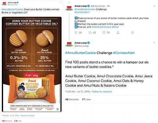 Marketing Strategy of Amul Case Study - Amul's Digital Marketing Strategy - Amul on Twitter - Contests and Giveaways
