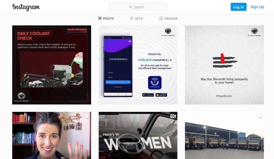Marketing Strategy of Ashok Leyland - A Case Study - Competitors - BharatBenz - Instagram