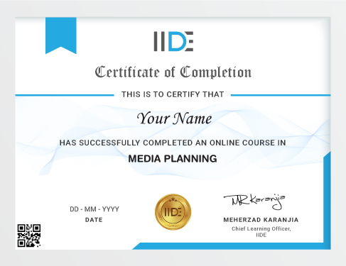 Media Planning Course - Certificate