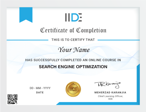 SEO Course Online Certificate