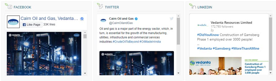 Cairn Digital Marketing Strategy Case Study - Social Media Strategy of Cairn - Social Media Presence of Cairn