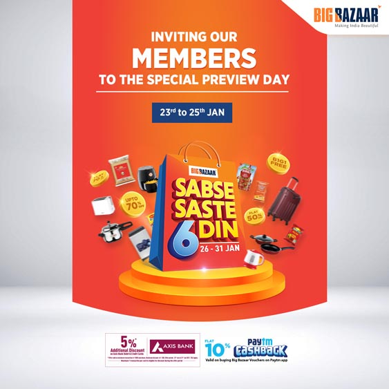 Marketing Strategy of Future Retail - A Case Study - Big Bazaar's Marketing Strategy and Campaign - Sabse Saste 6 Din Campaign (2)