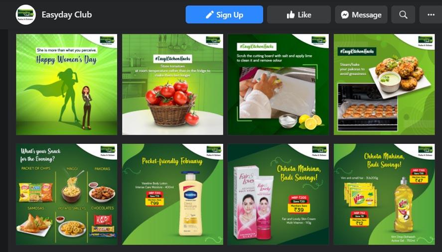 Marketing Strategy of Future Retail - Digital Presence Overview - Social Media Presence