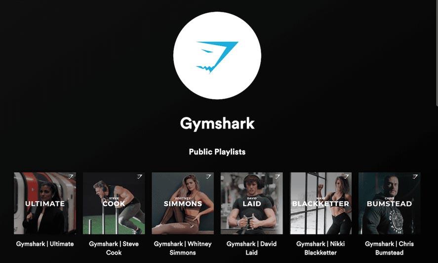 Marketing Strategy of Gymshark - A Case Study - Content Marketing Strategy of Gymshark - Spotify