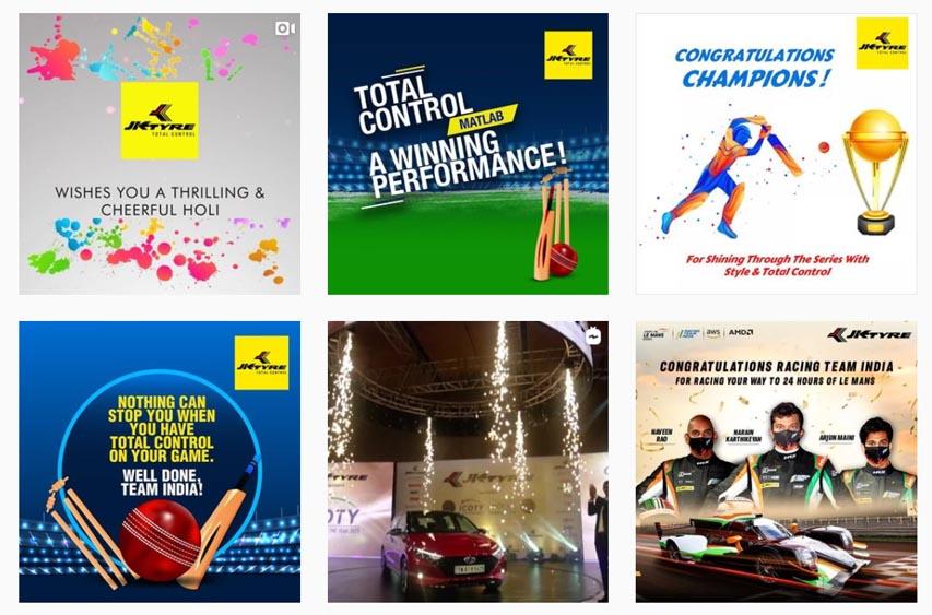 Marketing Strategy of JK Tyre - A Case Study - Digital Marketing Presence - Social Media Presence