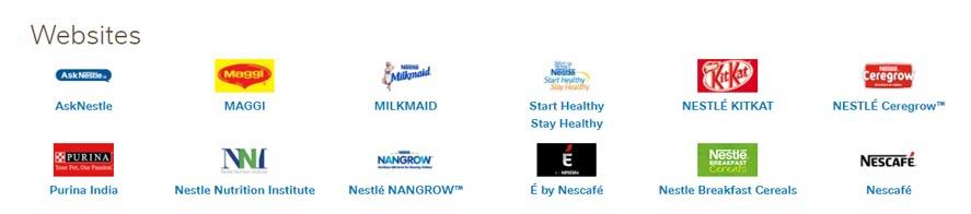 Marketing Strategy of Nestle - A Case Study - Brand Websites