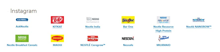 Marketing Strategy of Nestle - A Case Study - Instagram Pages
