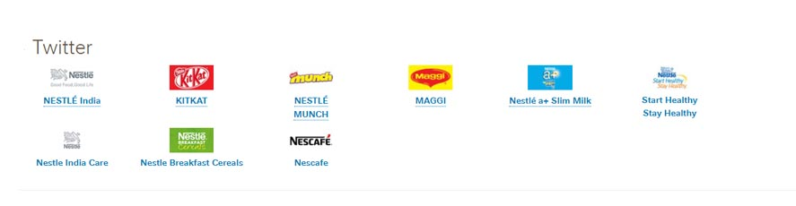 Marketing Strategy of Nestle - A Case Study - Twitter Pages