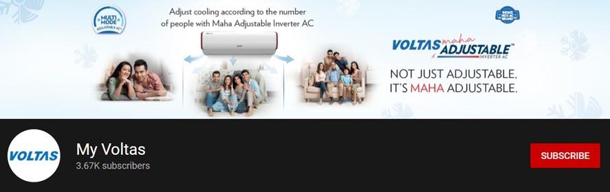 Voltas Marketing Strategy - A Case Study - Digital Marketing Strategy - Social Media Presence - Youtube