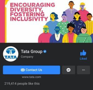 Tata Group Marketing Strategy Case Study- Social Media Presence- Facebook | IIDE
