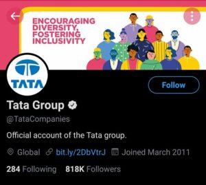 Tata Group Marketing Strategy Case Study- Social Media Presence- Twitter | IIDE