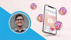 Instagram Marketing Strategy Mobile Banner