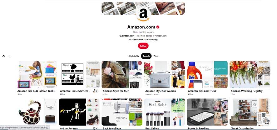 Marketing Strategy of Amazon - A Case Study - Digital Marketing Strategy - Social Media Strategy - Pintrest'