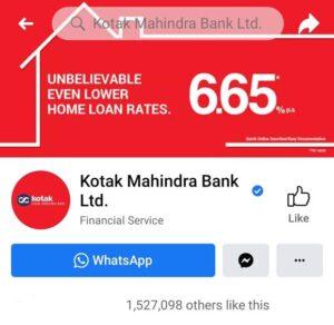 Marketing Strategy of Kotak Mahindra Bank - A Case Study - Digital Presence - Social Media - Facebook