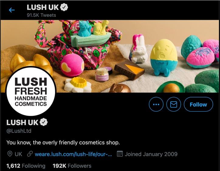 Marketing Strategy of Lush - A Case Study - Digital Marketing Strategy - Twitter