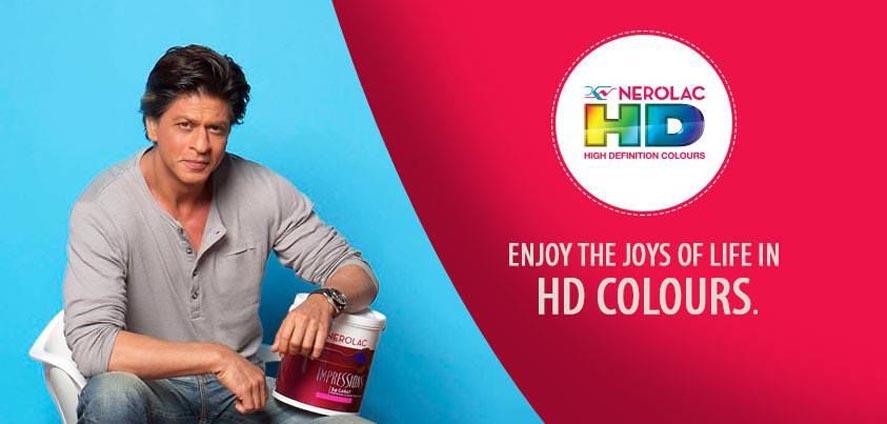Marketing Strategy of Nerolac - A Case Study - Brand Ambassador - Shah Rukh Khan