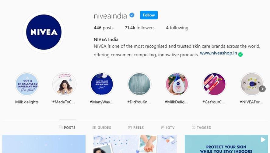 Marketing Strategy of Nivea - A Case Study - - Digital Marketing Strategy - Instagram