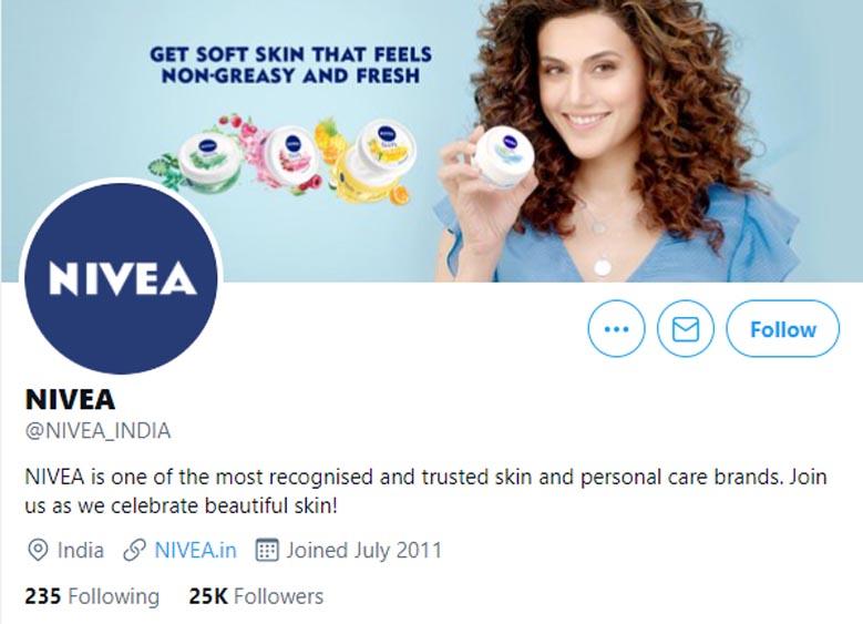 Marketing Strategy of Nivea - A Case Study - Digital Marketing Strategy - Twitter