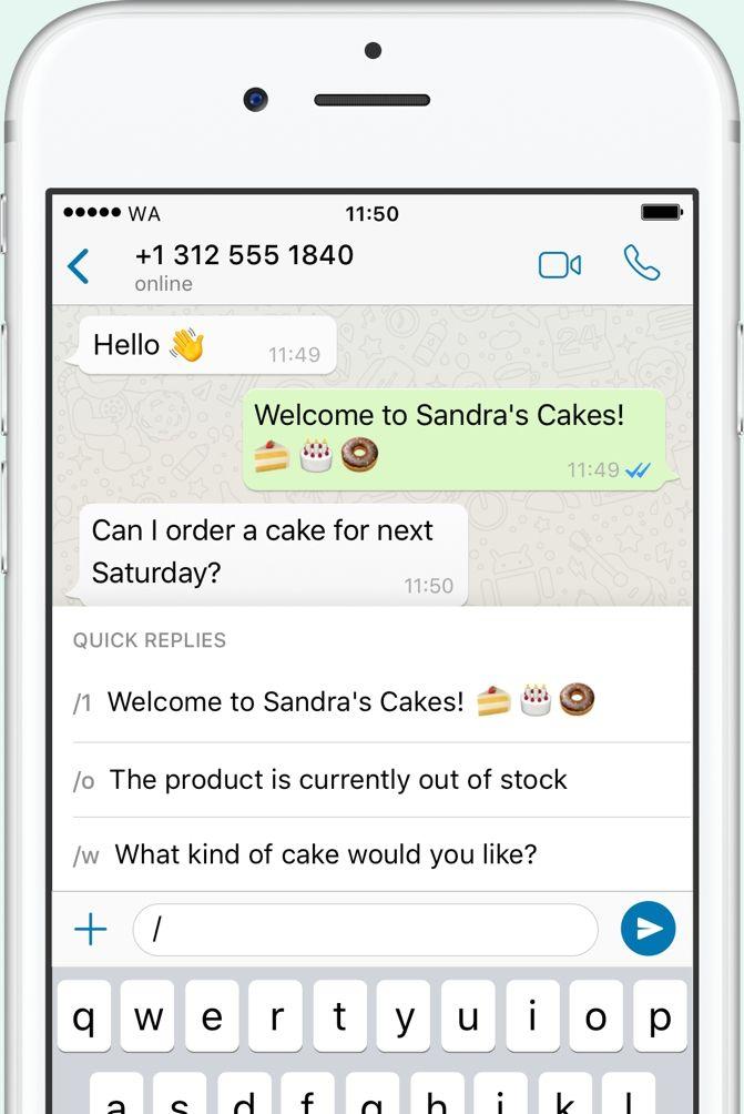 How to do whatsapp marketing - Quick Replies