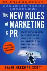 Digital Marketing Books - New Rules of Marketing and PR by David Meerman Scott