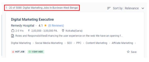 digital marketing courses in burdwan - job statistics