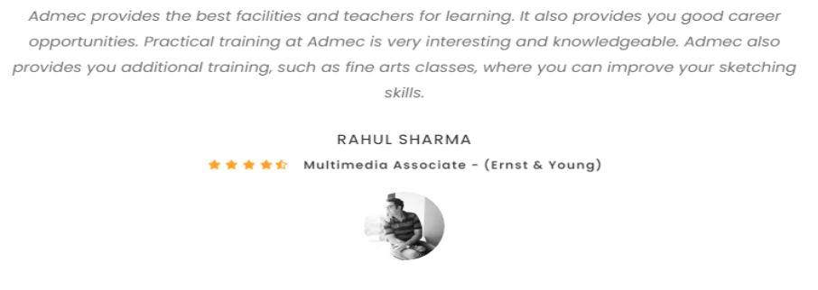 social media marketing courses in delhi - admec multimedia student review