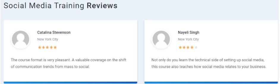 social media marketing courses in delhi - simplilearn student reviews