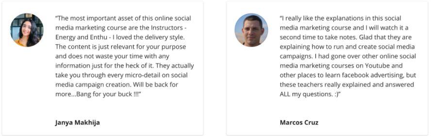 social media marketing courses in delhi - student reviews