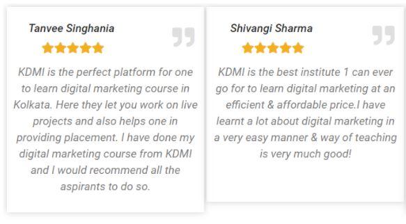 social media marketing courses in kolkata - KDMI student review