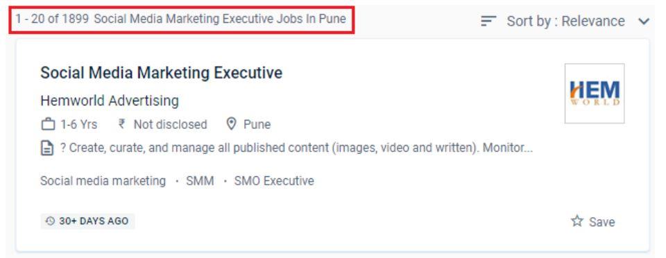 social media marketing courses in pune - job statitics