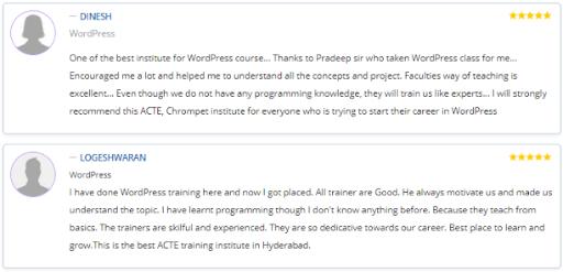 wordpress courses in Hyderabad - acte course reviews