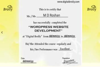 wordpress courses in hyderabad - digital brolly certification