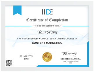 Content Writing Courses in Bangalore - IIDE Content Writing Certification