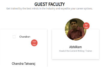 Content Writing Courses in Hyderabad - Ace Web Academy Content Writing Course Faculty