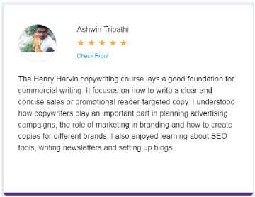 Copywriting Courses in Delhi - Henry Harvin Education Student Review