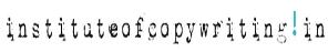Copywriting Courses in Delhi - Institute of Copywriting Logo