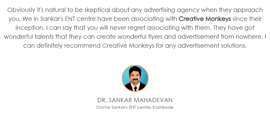 Digital Marketing Agencies in Calicut - Creative Monkey Client Review