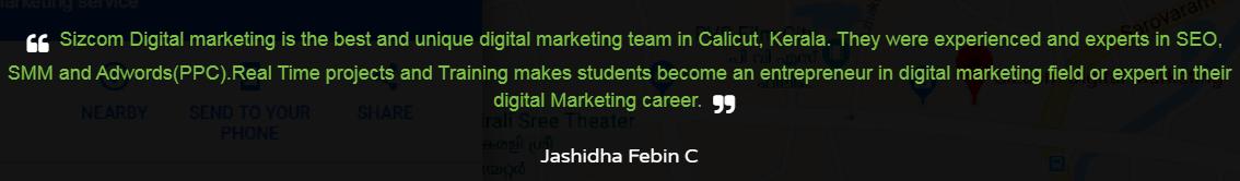 Digital Marketing Agencies in Calicut - Sizcom Client Review