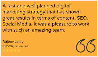 Digital Marketing Agencies in Faridabad - Mudrak Client Review