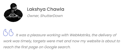 Digital Marketing Agencies in Faridabad - Web Matriks Client Review
