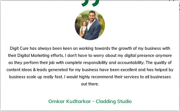 Digital Marketing Agencies in Goa - Digit Cure Client Review