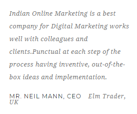 Digital Marketing Agencies in Meerut - Indian Online Marketing Client Review