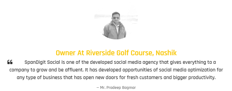 Digital Marketing Agencies in Nashik - Span Digit Social Client Review