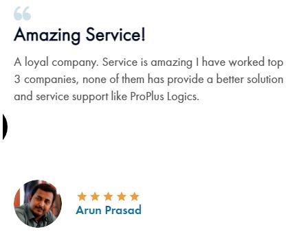 Digital Marketing Companies in Coimbatore - Pro Plus Logics Client Review