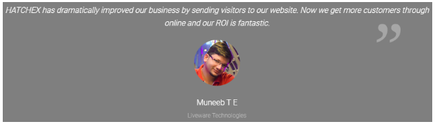 Digital Marketing Companies in Ernakulam - Hatchex Client Review