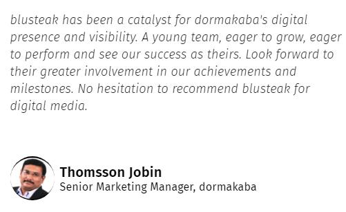 Digital Marketing Companies in Kerala - Bluesteak Client Review