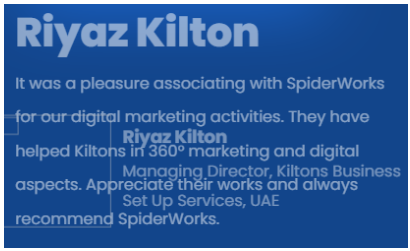 Digital Marketing Companies in Kerala - SpiderWorks Technologies Client Review
