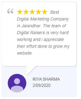Digital Marketing Companies in Punjab - Digital Raisers Client Review