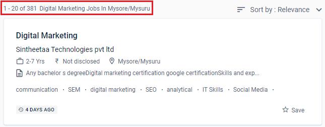 Digital Marketing Courses in Mysore - Naukri.com Job Opportunities