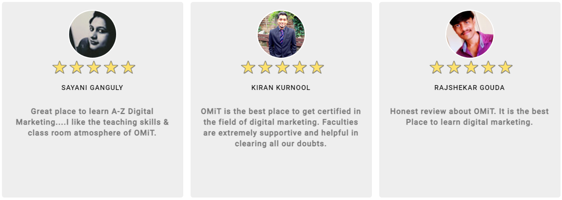 Digital Marketing Courses in Mysore - OMIT Digital Student Review